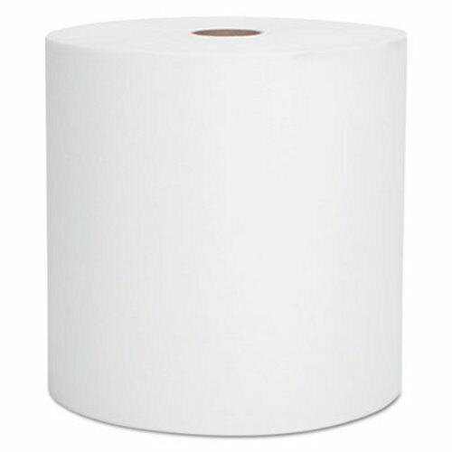 Scott 800 ft White Hard Roll Towels, 1-Ply, 12 Rolls (KCC 01040)