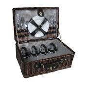 4 Person Wicker Picnic Basket