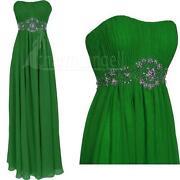 Long Green Bridesmaid Dress