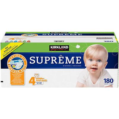 Kirkland Signature Supreme Diapers Size 4 180 Ct SEALED!!!