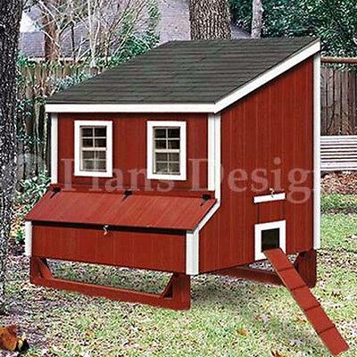 5x6 Lean-to Chicken Hen House Coop Plans 90506l