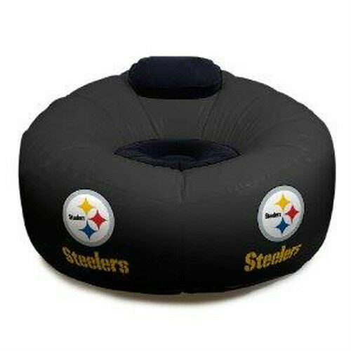 NFL Pittsburgh Steelers Football Large Inflatable Air Chair w Pump Included