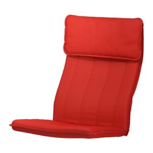 Red ikea Poang chair pad