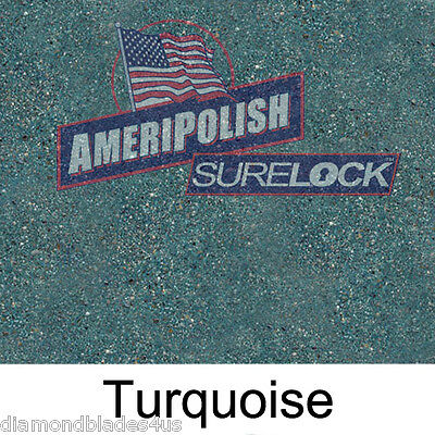 1 Gl. Turquoise Concrete Color Dye For Cement Stain Ameripolish Surelock Color