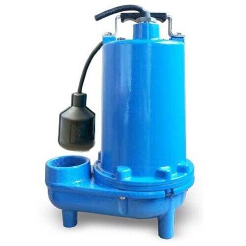 "Submersible SEWAGE TRASH Pump - 2"" Out - 132 GPM - 115 V - Self Priming - Float"