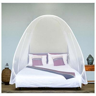 EVEN NATURALS Luxury Pop Up Mosquito Net Tent Large for Twin to King Size Bed...