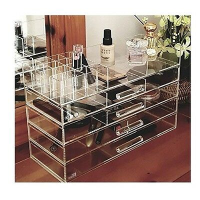 Large Make Up Storage Box Big Clear Jewelry Cosmetic Display Organizer Case New