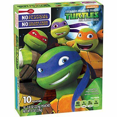 Betty Crocker Fruit Snacks, Teenage Mutant Ninja Turtles Snacks 10 Pouches 0.8oz Betty Crocker Snacks
