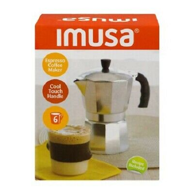Imusa Espresso Coffee Maker Cool Touch Handle - 6 CUP