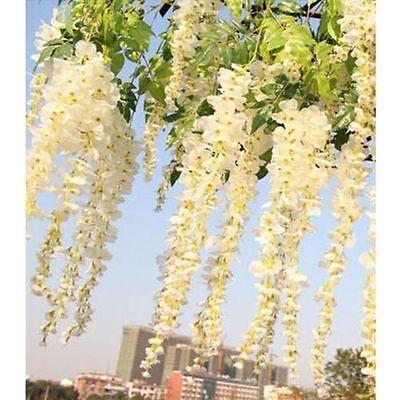 6Pcs 12Pcs Artificial Silk Wisteria Leaf Hanging Flower Ivy Garland Vine Wedding