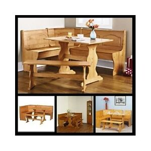 Corner-Dining-Set-Kitchen-Breakfast-Nook-Wooden-Table-Bench-Storage ...