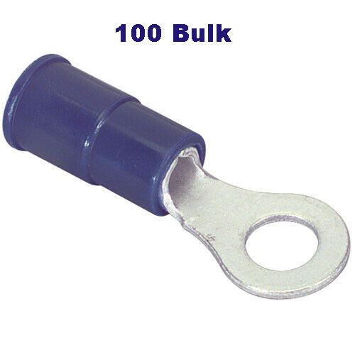 16-14 Gauge  #10 Stud  Nylon Insulated  Ring Terminal -Bulk of 100