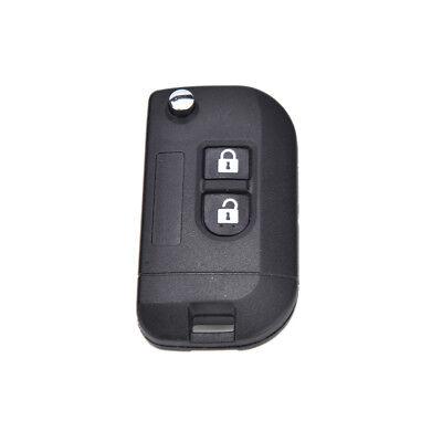 2 Button Flip Folding Remote Key Case Shell Nissan MICRA NOTE NAVARA QashqaiJF