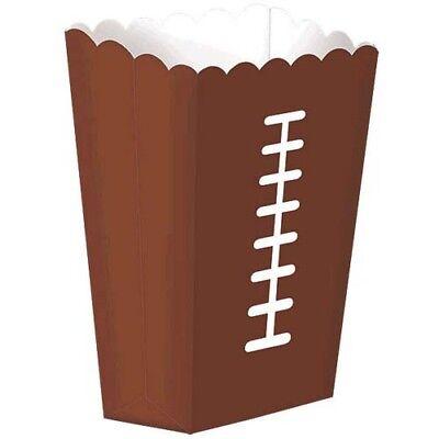 FOOTBALL PAPER SNACK BOXES (8) ~ Birthday Party Supplies Popcorn Favor Dessert - Football Desserts