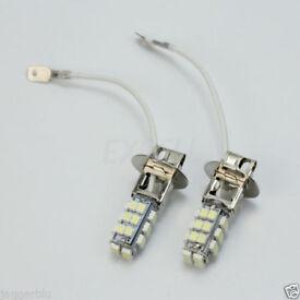 2 x H3 50/50 28 SMD LED HIGH POWER CANBUS LIGHT XENON WHITE BULBS SPOT FOG LIGHT