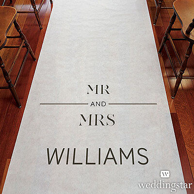 City Style PERSONALIZED Aisle Runner Wedding Ceremony Decoration  (Personalized Wedding Aisle Runner)
