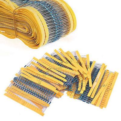 300pcs 30 Values 14w 1 Metal Film Resistors Resistance Assortment Kit Set Hot