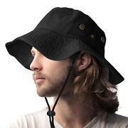 Mens Wide Brim Hat Black
