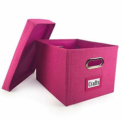 File Organizer Box - Collapsible Storage Container - Pink St