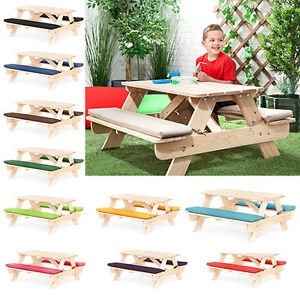 children 39 s kids outdoor furniture wood play picnic table bench set
