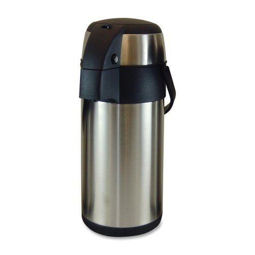 Genuine Joe High Capacity Vacuum Airpot - 3.17 Quart - Vacuum - Stainless Steel
