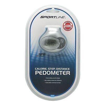 Sportline PEDOMETER SL345W with Belt Clip - Measures: Steps, Distance, Calories