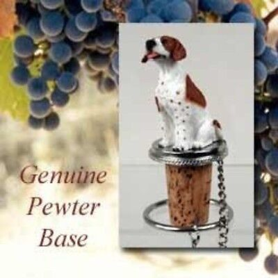 Conversation Concepts Brown White Pointer Dog Wine Bottle Cork Stopper DTB106A