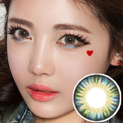 Blau Farbige Kontaktlinsen Color Contact Circle Lenses DIA14.5mm PoBl