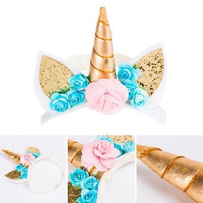 US Stock Magical Unicorn Horn Head Party Kids Hair Headband Fancy Dress Cosplay