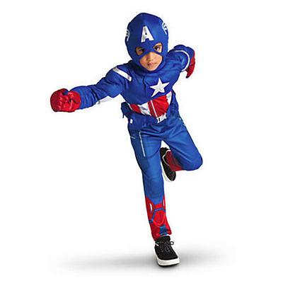 Avengers 5 / 6 Authentic Disney Marvel Superhero Captain America Deluxe Costume - Captain America Authentic Costume