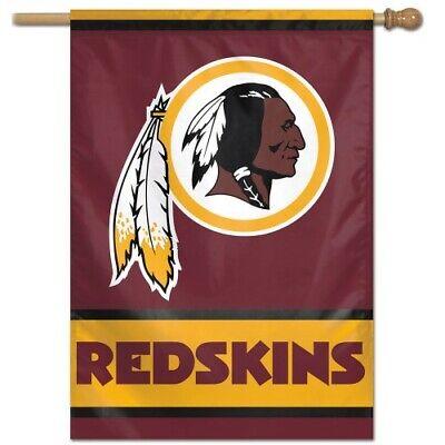 "WASHINGTON REDSKINS 28""X40"" HOUSE FLAG WALL BANNER NFL LICEN"
