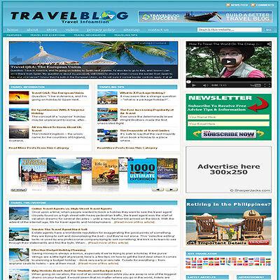 Established Travel Affiliate Website Turnkey Business For Sale Free Hosting