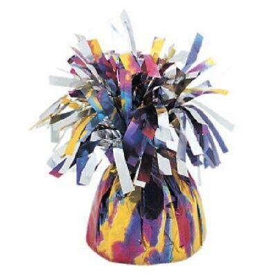 6 X UNIQUE PURPLE TIE DYE FOIL BALLOON WEIGHTS 175g FOIL HELIUM BIRTHDAY PARTY (Tie Dye Balloons)