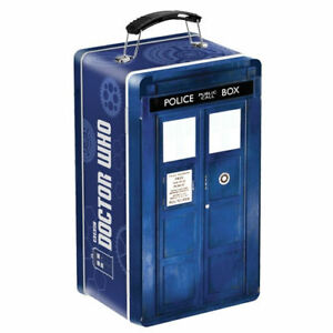 Doctor Who TARDIS Tin Tote Retro Lunch Box Travel Metal Dr  BBC TV Show
