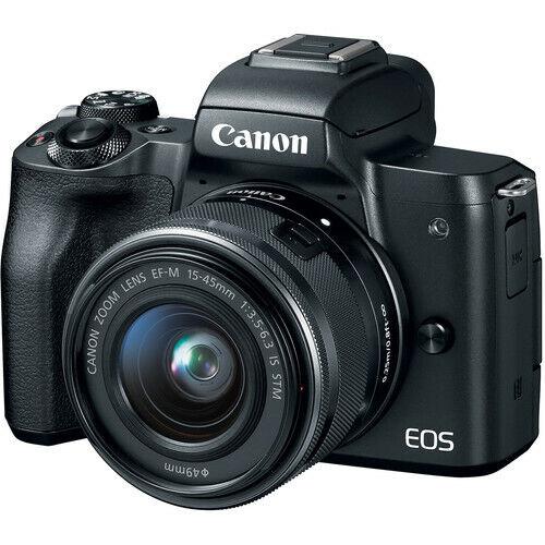 Canon EOS M50 with 15-45mm Mirrorless Digital Camera Kit 2680C011