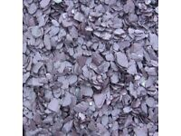 20 mm plum slate garden and driveway chips