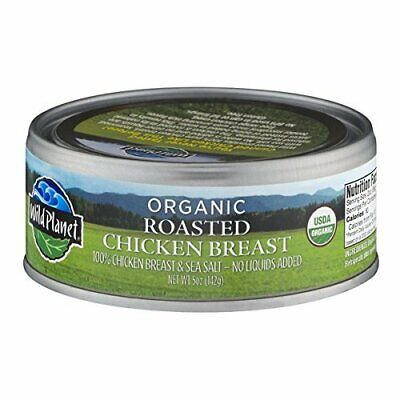 Wild Planet Organic Roasted Chicken Breast 5 oz (Pack of 12) Organic Chicken Breasts