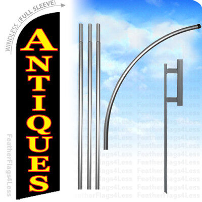 Antiques - Windless Swooper Flag 15 Kit Feather Banner Sign - Kf