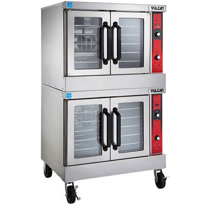 Vulcan Vc55e Electric Convection Oven Double Stack 240v With Casters