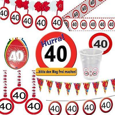 Geburtstagsdeko 40 Geburtstag Verkehrsschild Party