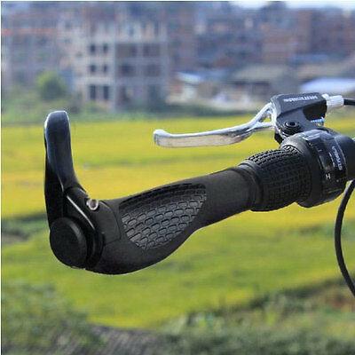 DOUBLE LOCK ON MOUNTAIN BIKE BMX HANDLEBAR GRIP BAR ENDS BICYCLE CYCLE LOCKING