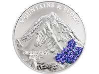 Palau 2015 5$ Mountains /& Flora HIDDEN PEAK 20 g Proof Silver Coin