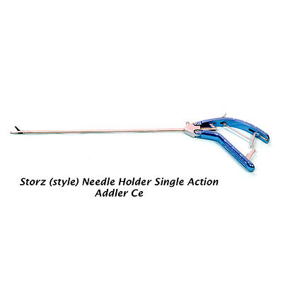 Addler New Laparoscopy Storz Style Needle Holder Titanium Handle Endoscopy