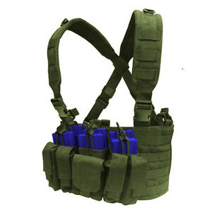 CONDOR-MOLLE-Tactical-Nylon-Recon-Chest-Rig-Mag-holder-Vest-mcr5-OLIVE-OD-GREEN