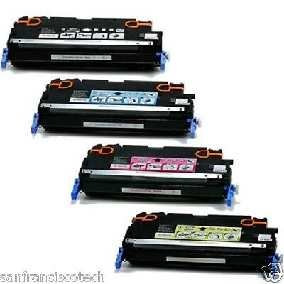 Compatible HP 501A-502A Q6470A Q6471A Q6472A Q6473A Toner Cartridges for HP 3600 ()