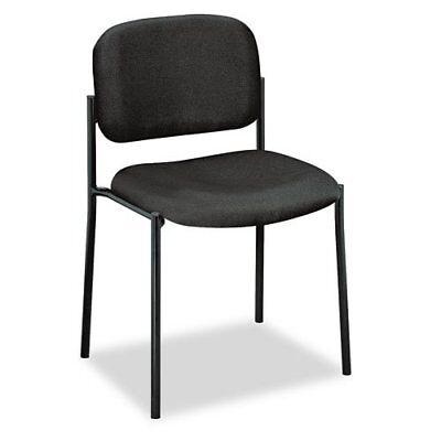"Basyx By Hon Vl606 Armless Guest Chair - Black Seat - Back - Black Frame - 21.5"""