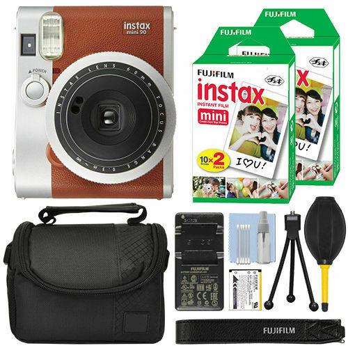 40 Film Bundle+Fujifilm INSTAX Mini 90 Neo Classic Fuji Instant Camera Brown