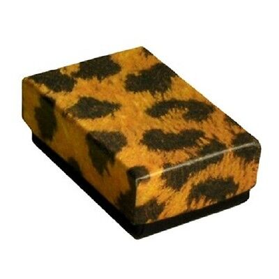 Wholesale 50 Small Leopard Cotton Fill Jewelry Ring Pendant Gift Boxes 1 78