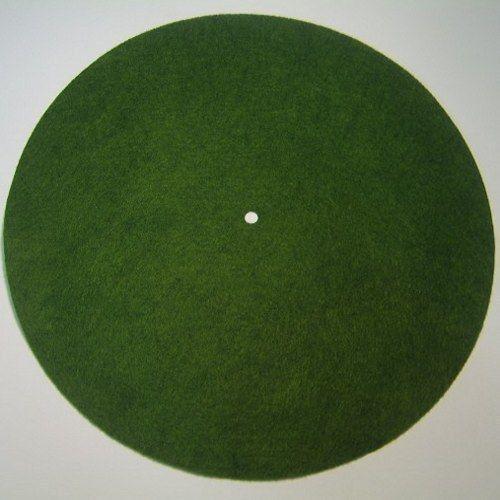 "Victor Phonograph LARGE LIGHT GREEN Turntable Felt - Round (fits 12"" diameter)"