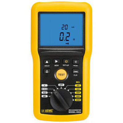 Aemc 6524 2155.52 Digital Megohmmeter Wbargraph Alarm Memory